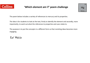 'Which element am I?' poem challenge