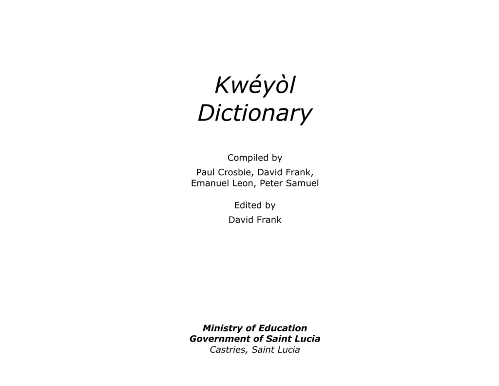 Kwyl Dictionary St Lucian Creole New Rudder Mixer And Speed Controller Driver Revisedand Now