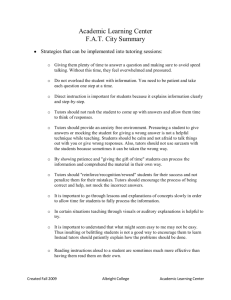 Academic Learning Center F.A.T. City Summary