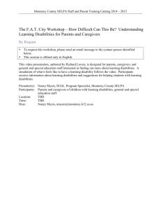 The FAT City Workshop – How Difficult Can This Be? Understanding