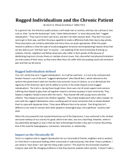 Rugged Individualism and the Chronic Patient