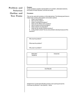 Problem and Solution Outline and Text Frame