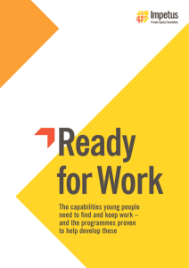The capabilities young people need to find and keep work