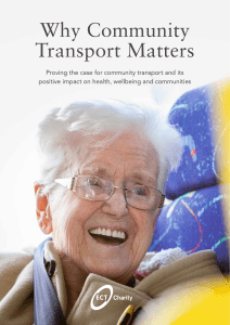 Why Community Transport Matters