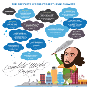 THE COMPLETE WORKS PROJECT: QUIz ANSWERS