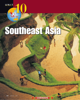 Chapter 29: The Physical Geography of Southeast Asia