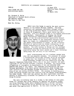 Aziz Ishak and the Anti-British Spirit