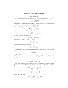 Gradient, Chain Rule for Paths