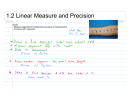 1.2 Linear Measure and Precision