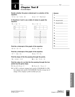 4 Chapter Test B