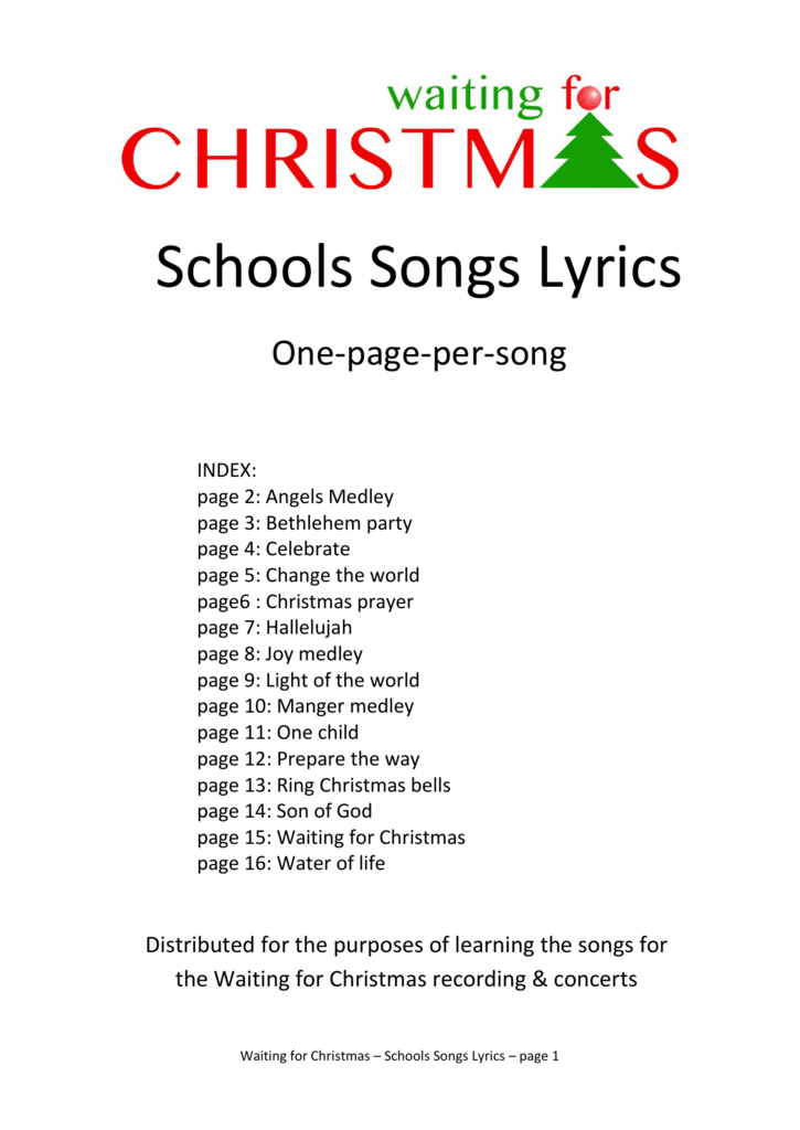 Schools Songs Lyrics - Kingsfleet Primary School