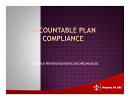 Accountable Plan Compliance-Expense Reimbursements and