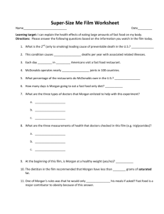 Super-Size Me Film Worksheet