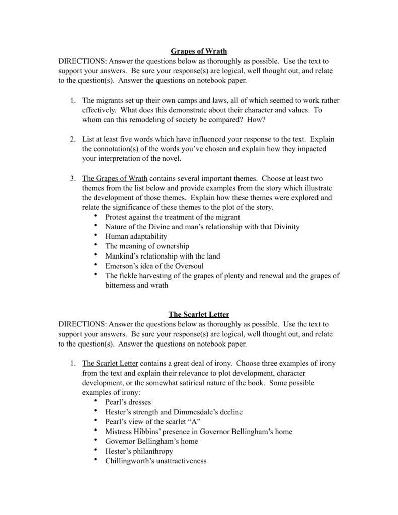 scarlet letter essay thesis