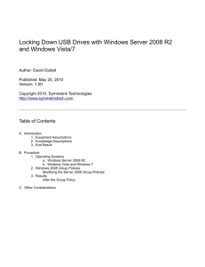 Locking Down USB Drives with Windows Server 2008 R2 and