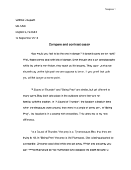 erika kohlhoff final copy of the essay a sound of thunder and being compare contrast essay