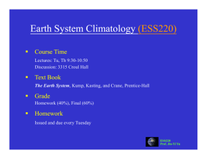 ESS220 - Department of Earth System Science