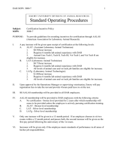 Standard Operating Procedures - Division of Animal Resources