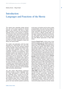 Introduction: Languages and Functions of the Heroic