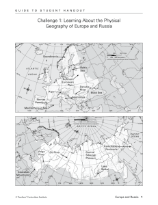 Challenge 1: Learning About the Physical Geography of Europe and