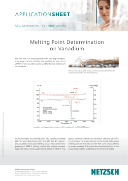 Melting Point Determination on Vanadium - Netzsch