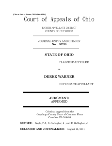 State v. Warner - Supreme Court of Ohio and the Ohio Judicial System