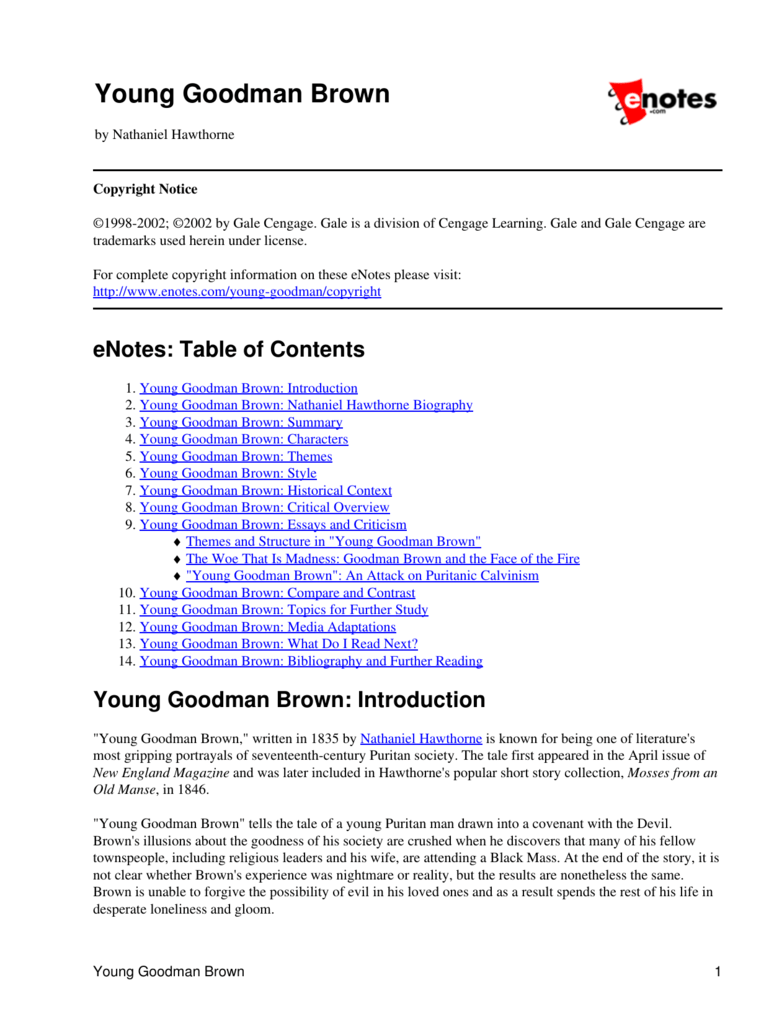 critical review of young goodman brown essays young goodman brown what do i next