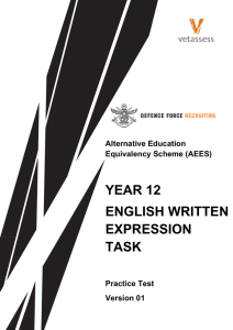 Year 12 Written Expression Task Practice Test v01