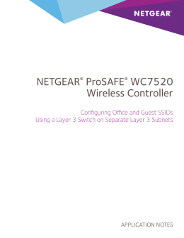 NETGEAR® ProSAFE® WC7520 Wireless Controller