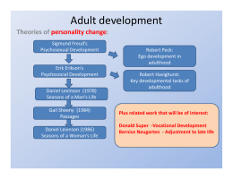Theories of adult development