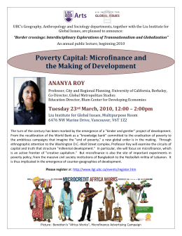Poverty Capital: Microfinance and the Making of Development