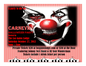 A party to die for… HALLOWEEN PARTY The Los Gatos Lodge