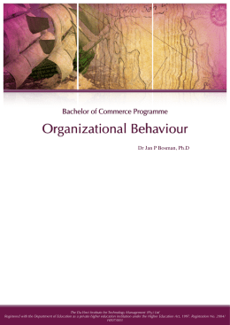 behavior science in organization Master of science in management and organizational behavior the ms in management and organizational behavior program is designed to accommodate working professionals therefore, classes are scheduled in the evening and on weekends.