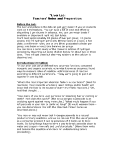 """Liver Lab: Teachers' Notes and Preparation:"