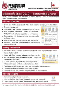 Microsoft Excel 2010— Formatting Charts