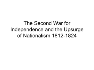 The Second War for Independence and the Upsurge of Nationalism