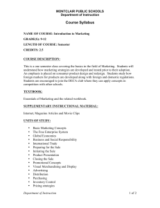 Intro. To Marketing Syllabus - New