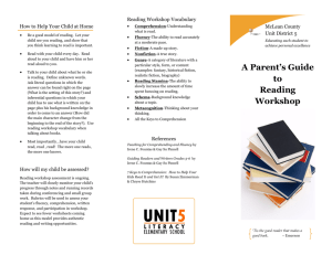 A Parent's Guide to Reading Workshop
