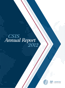 Annual Report - Center for Strategic and International Studies
