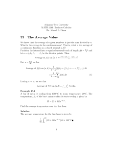 33 The Average Value - Arkansas Tech University