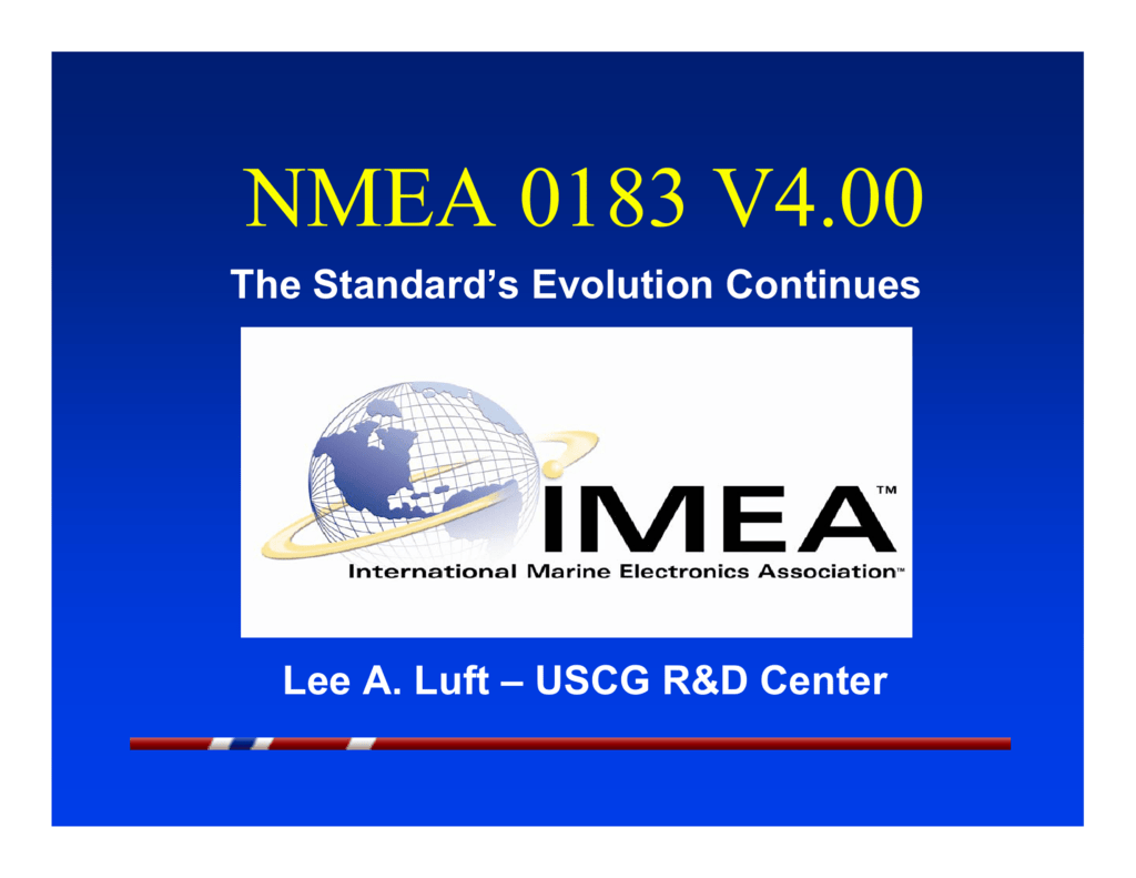 NMEA 0183 V4 00 Presentation