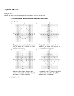 Algebra II B Review 3