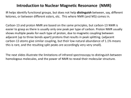 Introduction to Nuclear Magnetic Resonance (NMR)