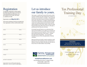 Tax Professional Training Day