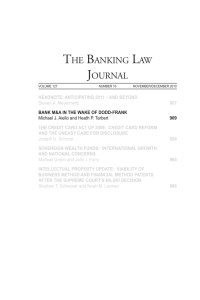 the banking law journal - Weil, Gotshal & Manges LLP