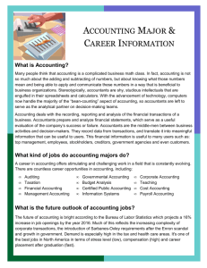 ACCOUNTING MAJOR & CAREER INFORMATION