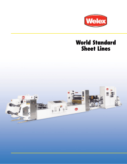 Welex World Standard ® Sheet Lines