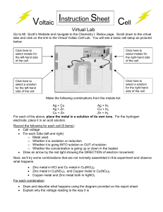 Voltaic Cell - Mr. Scott's Chemistry Website