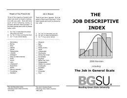 THE JOB DESCRIPTIVE INDEX