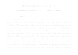 In CONGRESS, July 4, 1776. The unanimou' Declaration of t